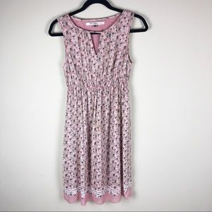 Max studio rose pink summer dress size xs